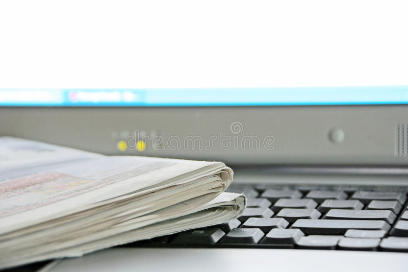 Download Newspaper and Computer stock image. Image of data, information - 4807129