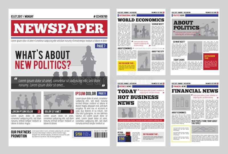 newspaper design template stock vector illustration of concept 92417357. Black Bedroom Furniture Sets. Home Design Ideas