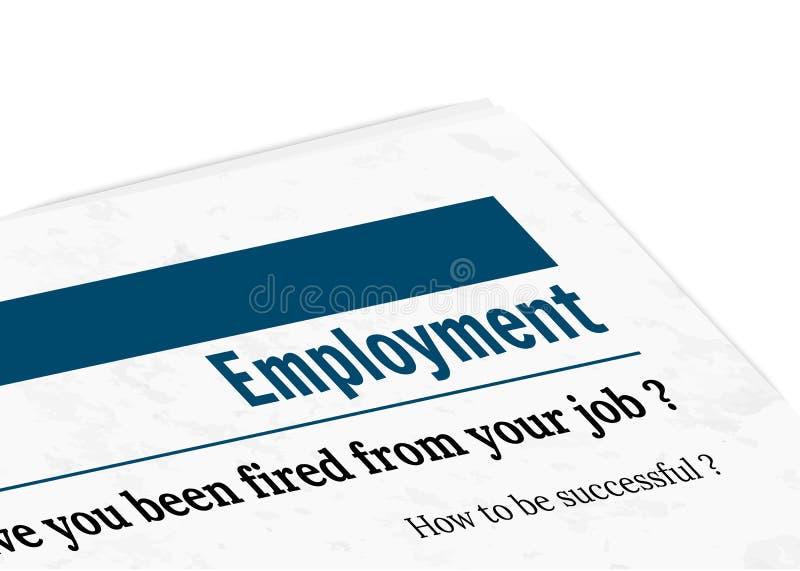 Newspaper - employment vector illustration
