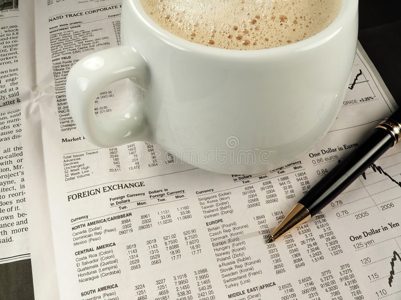 Download Newspaper Financial Section Stock Photo - Image: 1364010