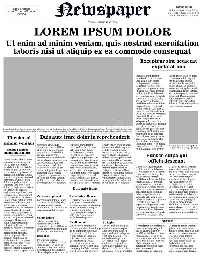 newspaper front page royalty free illustration