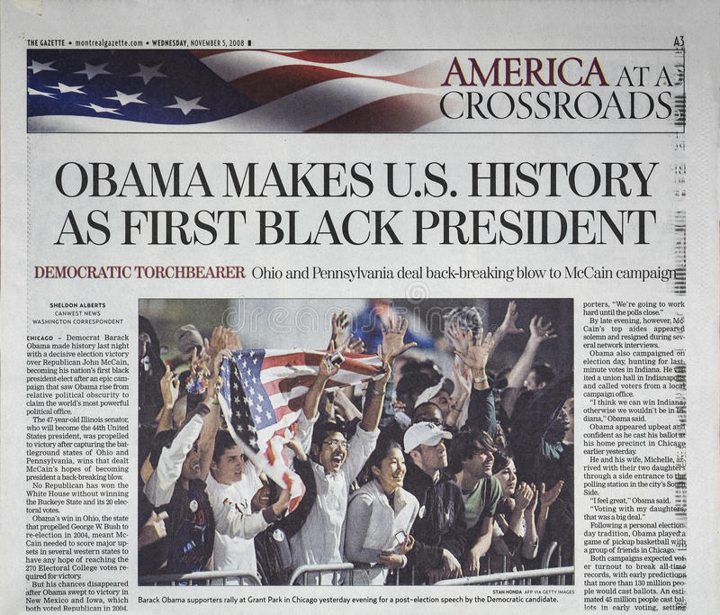 Newspaper headline royalty free stock image