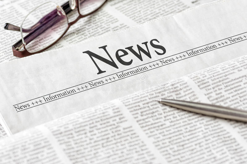 Newspaper with the headline News royalty free stock images