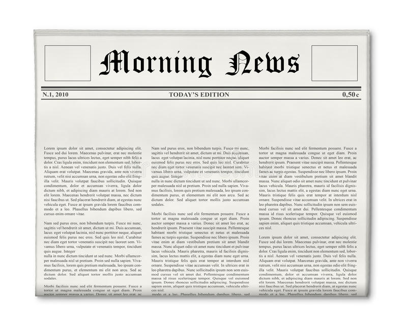 Newspaper headline template stock images