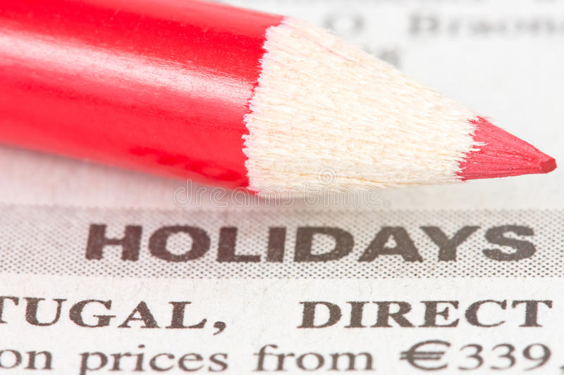 Download Newspaper  With Holidays Ad Royalty Free Stock Photos - Image: 24556748