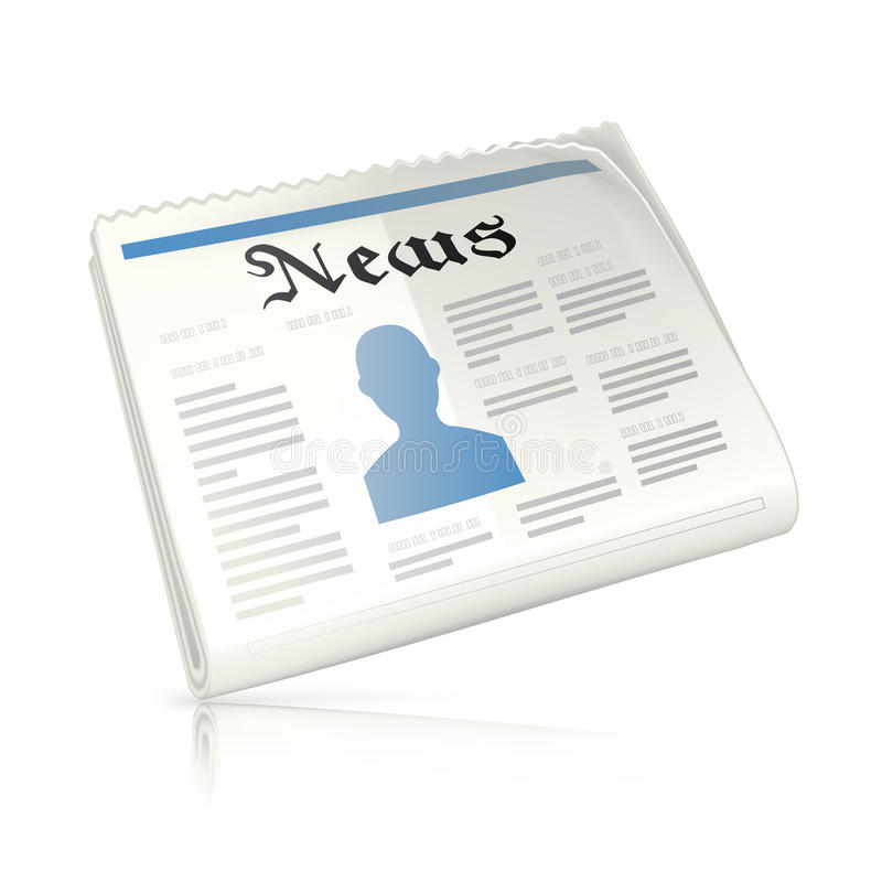 Download Newspaper,  icon stock vector. Image of publication, page - 17405865