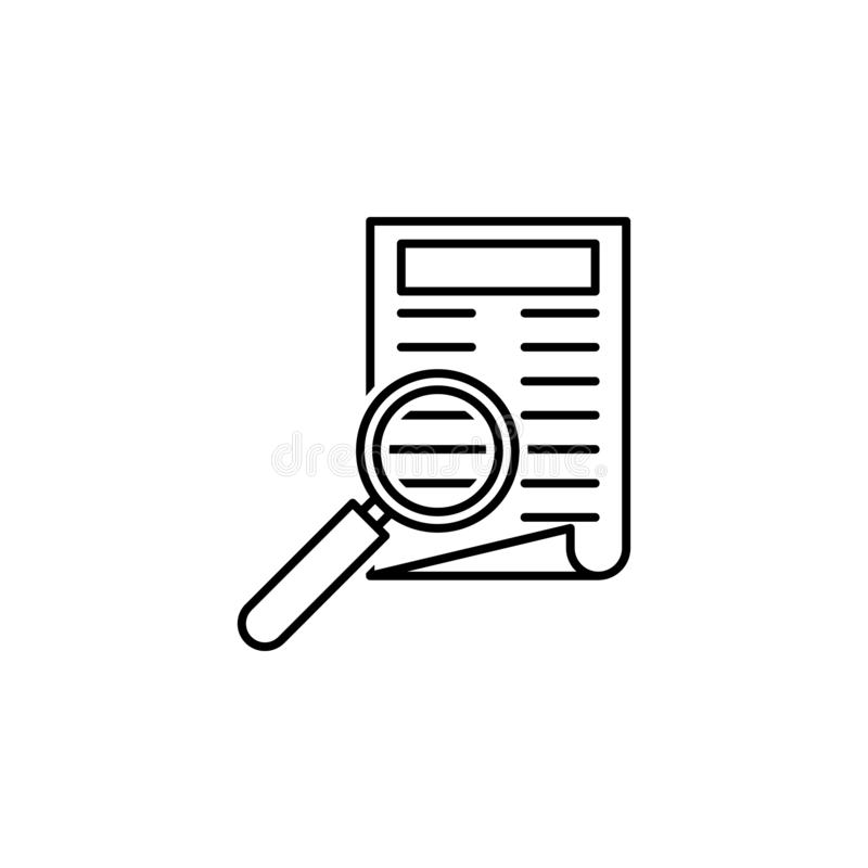 Newspaper icon. Element of news thin line icon. On white background royalty free illustration