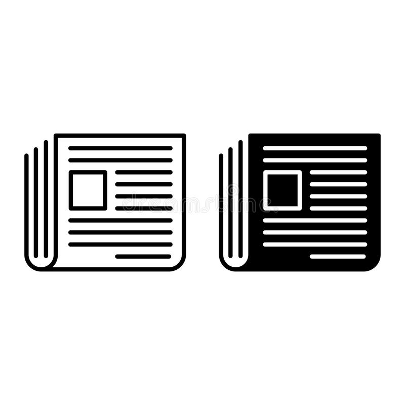 Newspaper Icon in flat style. Isolated on whitte background. Press symbol for your web site design, logo, app, UI. Vector illustration royalty free illustration