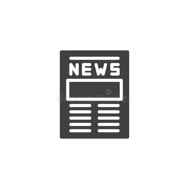 newspaper icon vector stock vector illustration of press