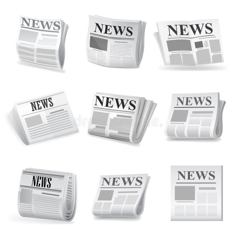 Newspaper icon. Vector. Illustration on white background vector illustration
