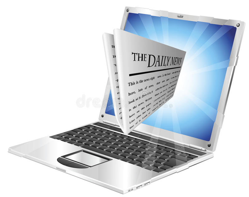 Download Newspaper laptop concept stock vector. Image of screen - 20777974