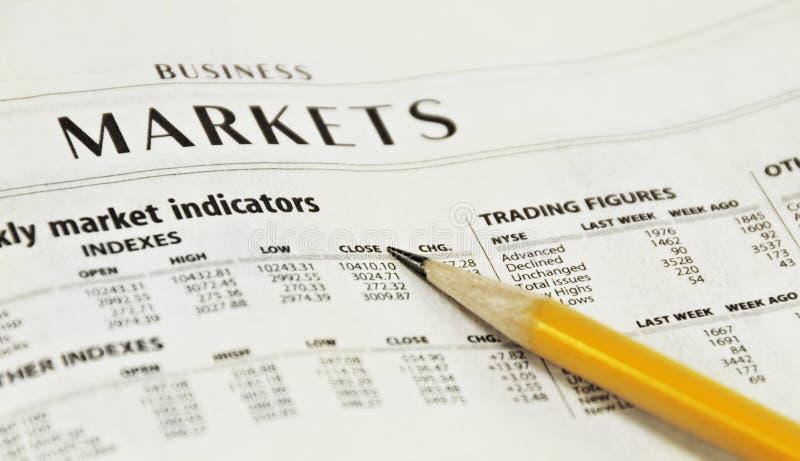 Newspaper Market Report stock photos