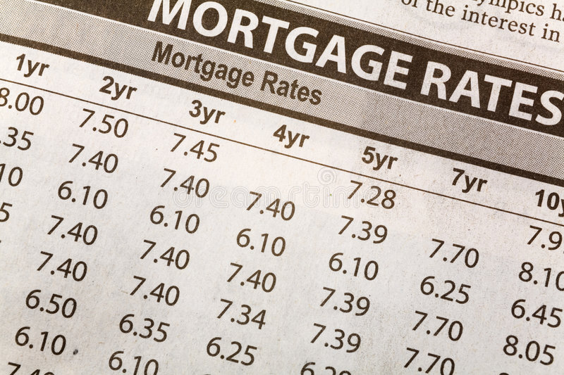 Download Newspaper Mortgage Rate stock image. Image of house, business - 4771531