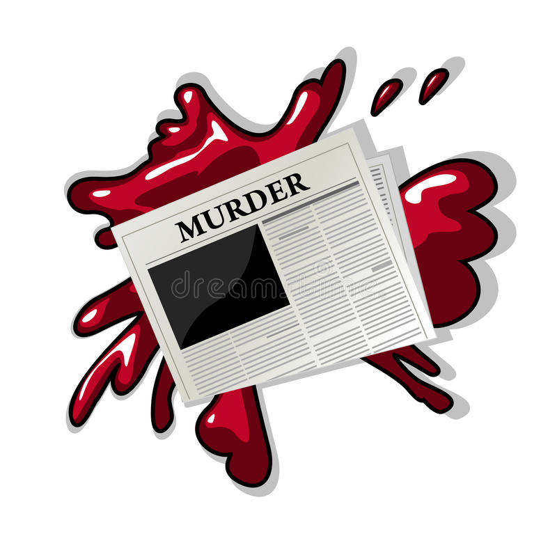 Download Newspaper murder icon stock vector. Illustration of graph - 27890286