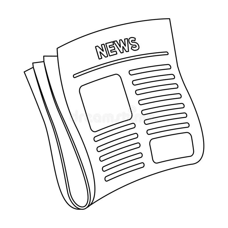 Newspaper, news.Paper, for the cover of a detective who is investigating the case.Detective single icon in outline style royalty free illustration