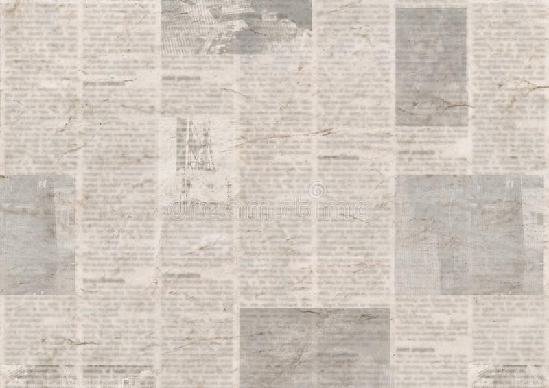 Newspaper with old grunge vintage unreadable paper texture background royalty free stock photography