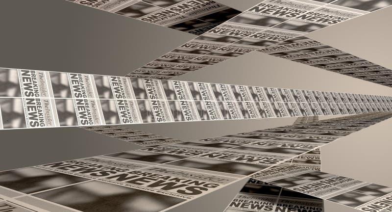 Newspaper Press Paper Stock Photo