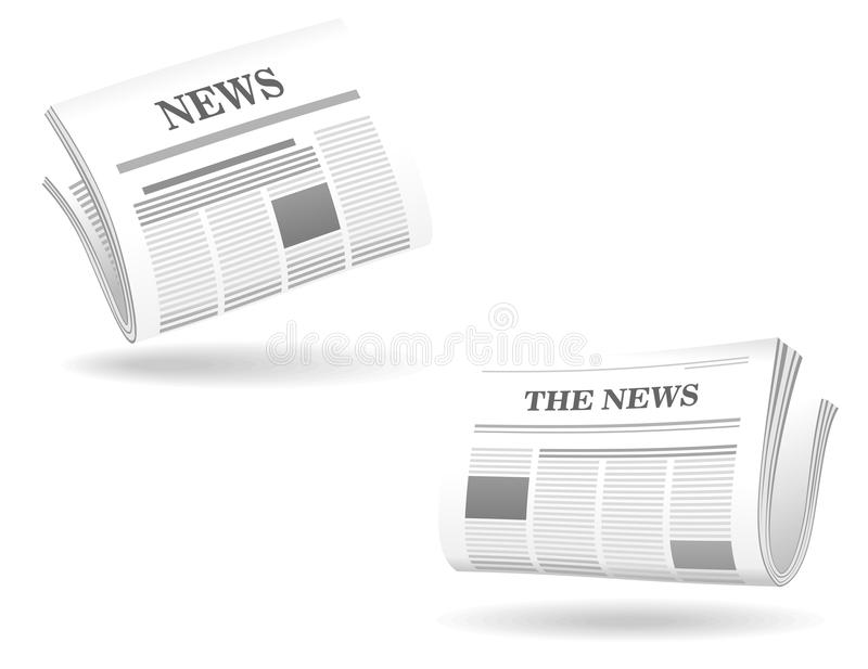 Newspaper realistic icons vector illustration