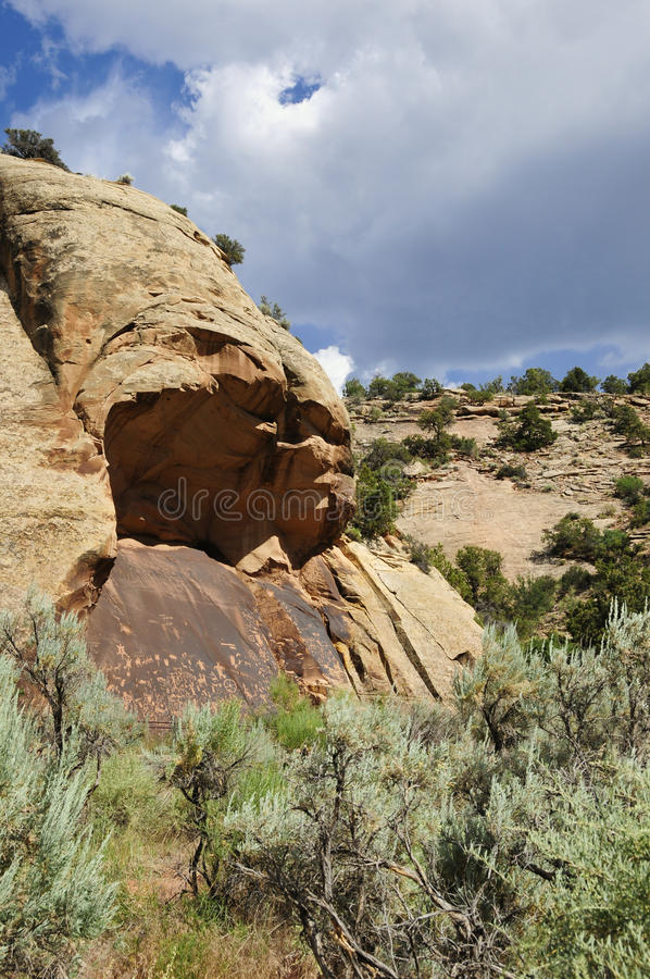 Newspaper Rock. Near Canyonlands National Park royalty free stock photography