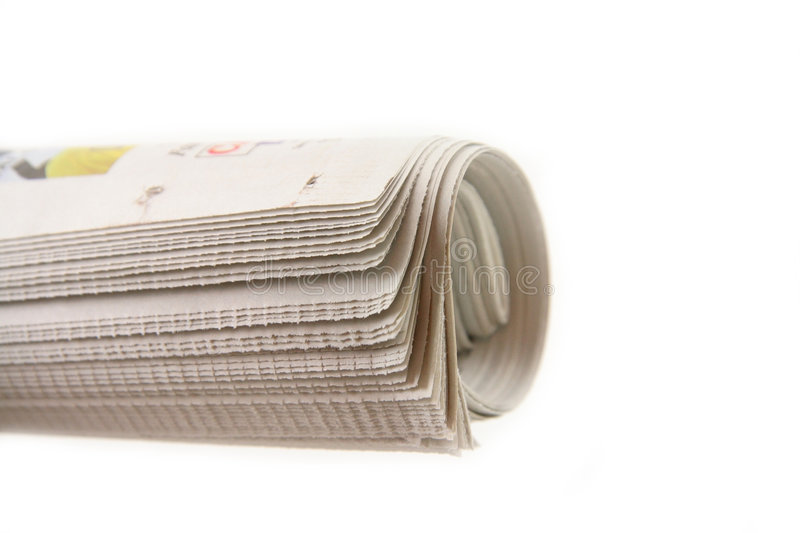 Newspaper roll royalty free stock photography