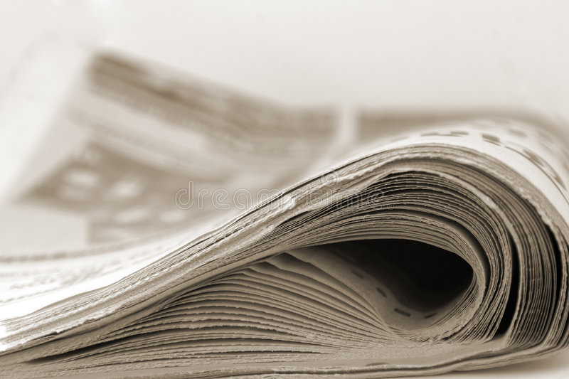 Newspaper in sepia royalty free stock images