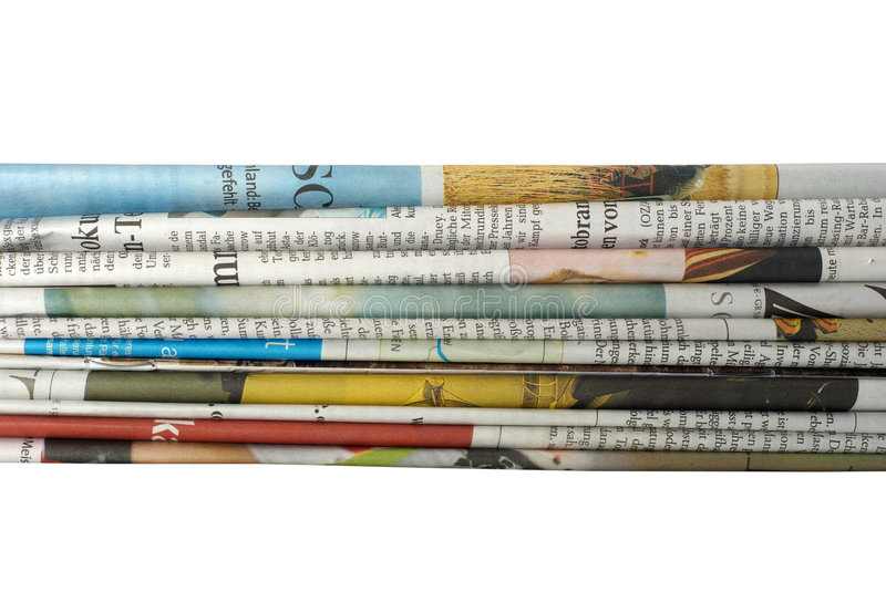 Download Newspaper Stack stock image. Image of point, printout - 3003171