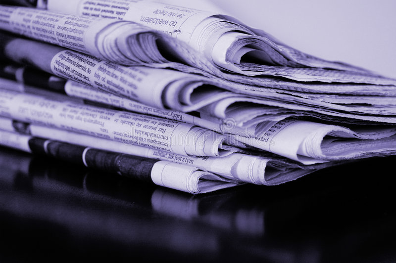 Download Newspaper stack stock image. Image of obsolete, everyday - 8489509