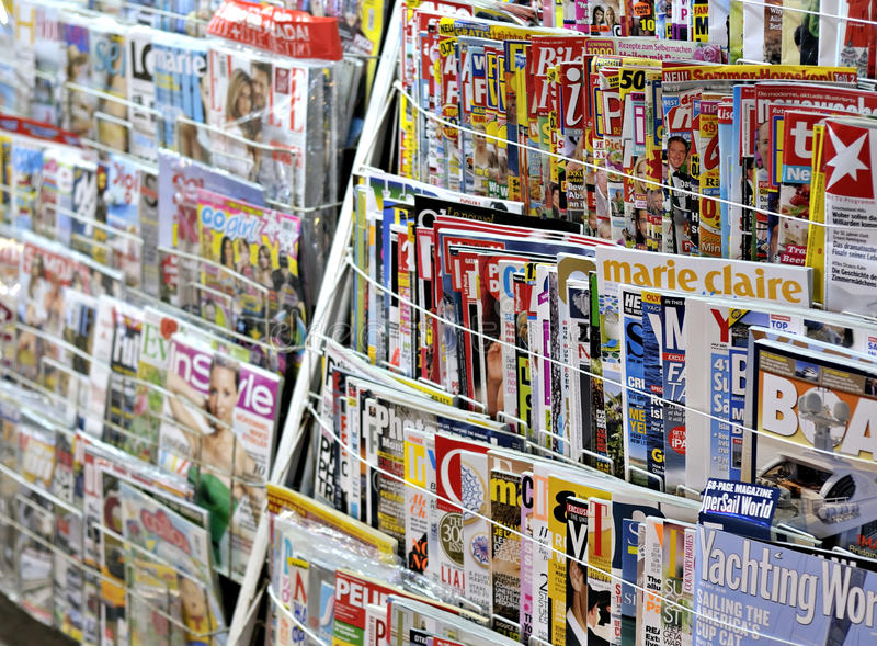 Newspaper stand. Of a market in Turkey. Marmaris - 04/07/2011
