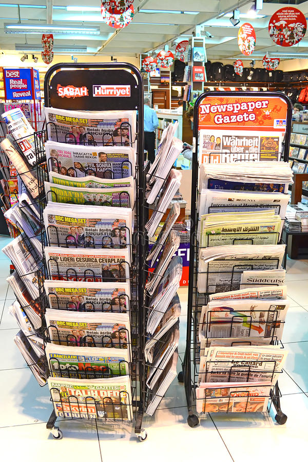 Download Newspaper Stand editorial photo. Image of important, headline - 22845671
