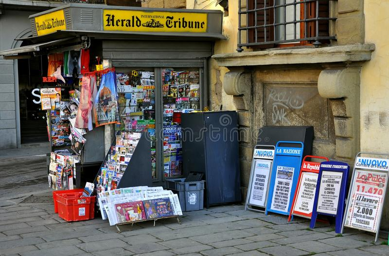 Newspaper stand in Italy
