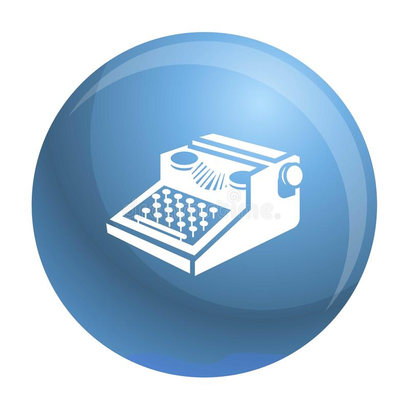 Newspaper typewriter icon, simple style. Newspaper typewriter icon. Simple illustration of newspaper typewriter vector icon for web design isolated on white stock illustration