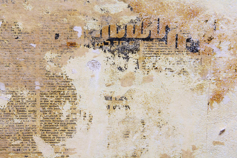 Grunge Old Newspaper Textures Vintage Wall Background