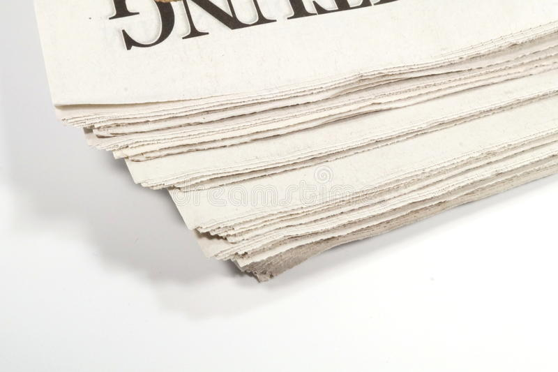 A newspaper royalty free stock photography