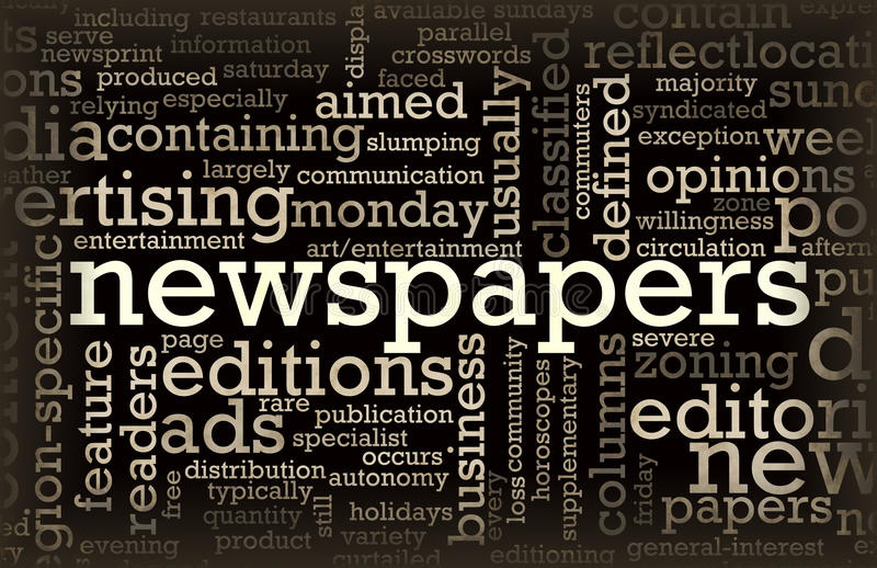 Newspapers. Concept of News Updates and Headlines royalty free illustration