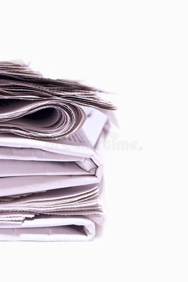 Download Newspapers stock image. Image of isolated, background - 16634375