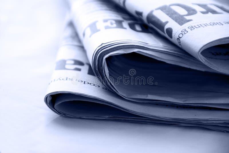 Newspapers stock image