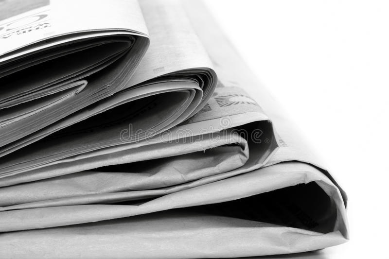 Download Newspapers stock image. Image of white, blurred, copy - 17460665