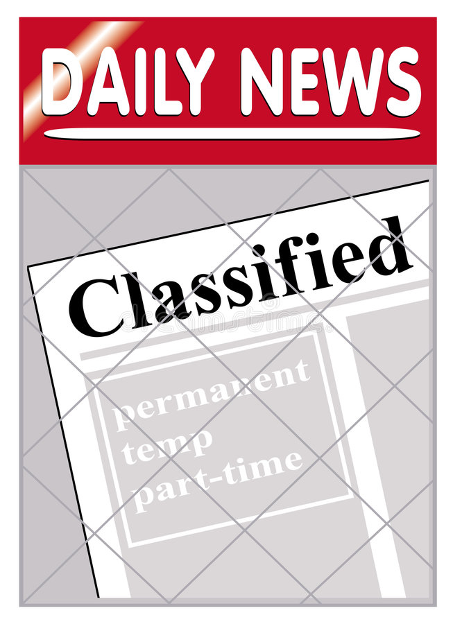 Download Newspapers classified stock vector. Image of economy, shopping - 1260092