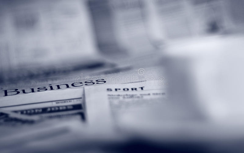 Download Newspapers and coffee stock photo. Image of important - 29613676