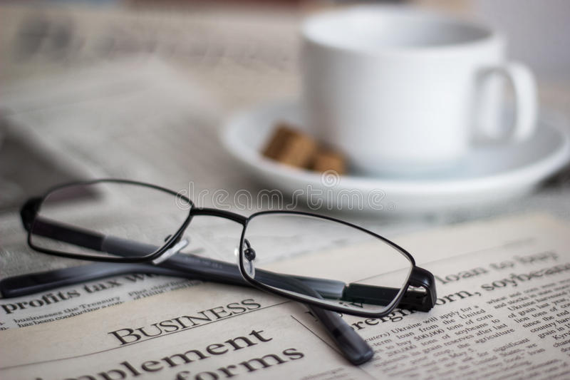 Download Newspapers stock image. Image of glasses, business, media - 34748589