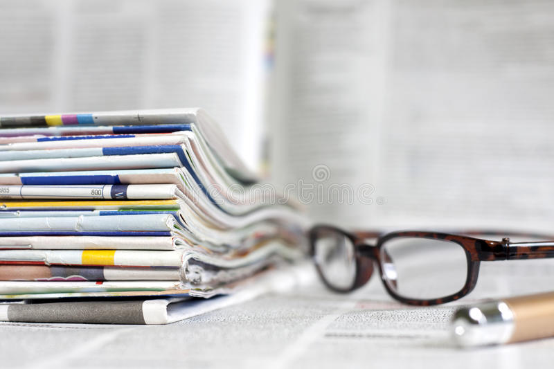 Download Newspapers And Magazines Background Concept Stock Photo - Image: 31434034