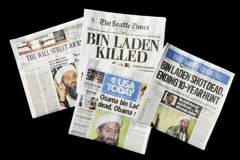 Newspapers, Osama bin Laden Dead, editorial stock photography