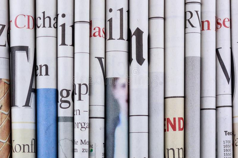 Newspapers, Pile of newspapers, stack of newspaper stock photos