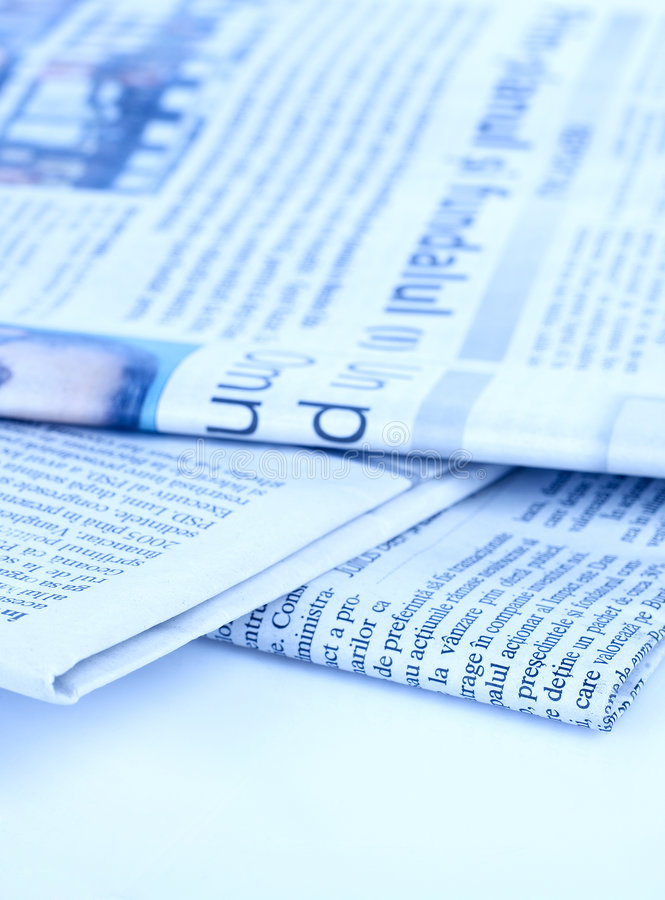 Newspapers series stock image