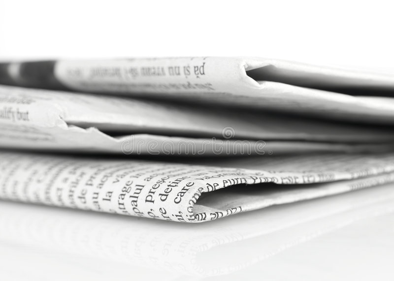 Newspapers series royalty free stock photos