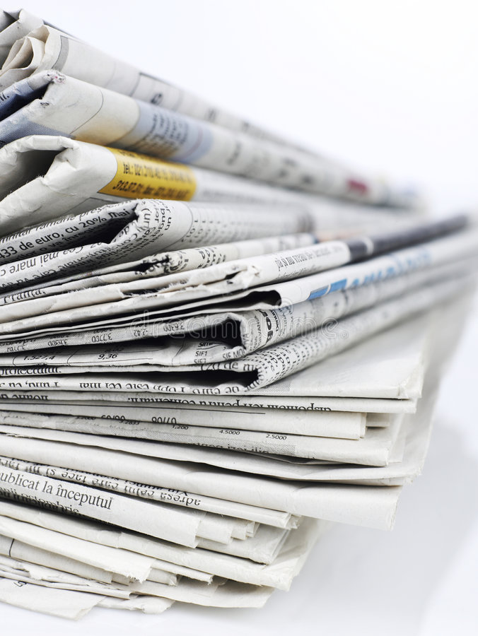 Newspapers series royalty free stock image