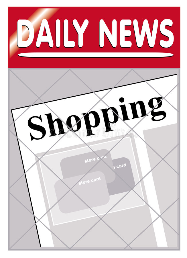 Download Newspapers shopping stock vector. Illustration of everyday - 1260099