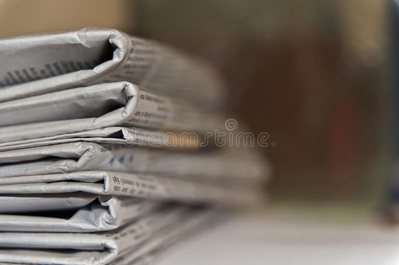 Download Newspapers stack stock image. Image of business, articles - 23846371