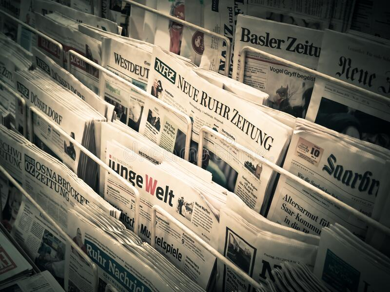 Newspapers On Stand Free Public Domain Cc0 Image