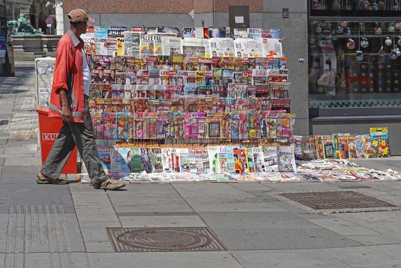 Newspapers Vienna stock photo